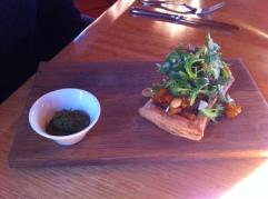 Pesto & Apricot Garden Salad Tart