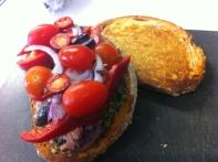 Tuna, Pesto & Spinach Salad Sandwich - Add Cherry Tomatoes & Red Chilli