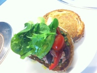 Tuna, Pesto & Spinach Salad Sandwich - Add Extra Virgin Olive Oil