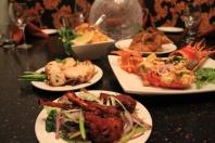 Clockwise- Chicken Biryani, Aachari Rabbit, Tandoori Lobster, Tandoori Lamb Chops, Murg Afgani Tikka Chicken 2