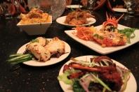 Clockwise- Chicken Biryani, Aachari Rabbit, Tandoori Lobster, Tandoori Lamb Chops, Murg Afgani Tikka Chicken