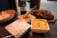 Main Dishes with Steamed Rice & Wine