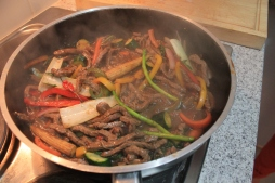 Allow the sauce to infuse with the cooked meat & vegetables