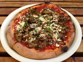 Harissa Spiced Lamb, Melanzane & Feta Woodfired Pizza