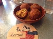 Prawn & Chorizo Paella Balls, Paprika Aioli