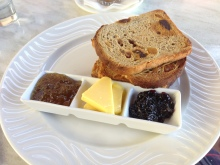 Toasted Fig & Pear Bread with Butter & Luxury Jams