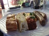 Turkish Eggs & Lamb Sausage with Tomato & Cardamon Relish
