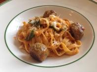 Fettuccine, pork & veal meatballs, tomato sugo