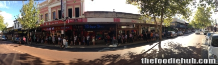 The Queue for Free Burritos at 430pm Panoramic