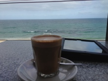 View with a coffee