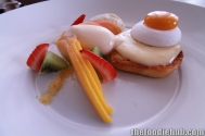 Fried Egg on Toast, Meringue & Mango, Toasted Brioche, Custard, Cream & Fresh Fruit 2