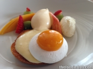 Fried Egg on Toast, Meringue & Mango, Toasted Brioche, Custard, Cream & Fresh Fruit 4