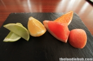 From left to right eaten after the Miracle Fruit