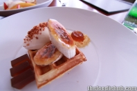Waffle with Maple Syrup, Caramelised Banana, Bacon & Egg Ice Cream 4