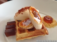 Waffle with Maple Syrup, Caramelised Banana, Bacon & Egg Ice Cream 6