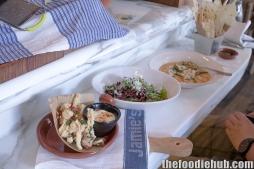 Fritto Misto, Rocket & Radicchio Salad, Blue Swimmer Crab Risotto