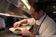 Head Chef Lorenzo Schiaffini providing the finishing touches