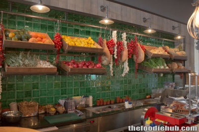The Antipasti counter