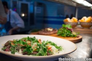 Wagyu Bresaola & Beet Salad, Steak Tagliata & Polenta Chips 2