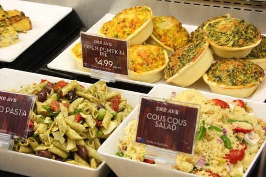Paste salads, cous cous