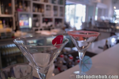 Start of Lychee Raspberry Martini - 'The Indiana' (Left)