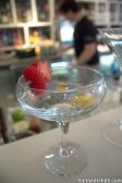Start of Vanilla Strawberry French Martini - 'The Raynor'