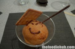 Fried Ice Cream with Chocolate Sauce