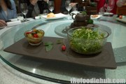 Green Chilli in Special Sauce & Ruccola Salad