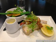 Grilled Fish of the Day with prawns & steamed vegetables