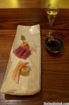 Sashimi - Salmon, Tuna, Prawn with Sake