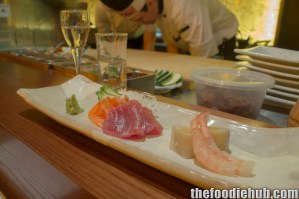 Sashimi - Salmon, Tuna, Prawn with Sake2