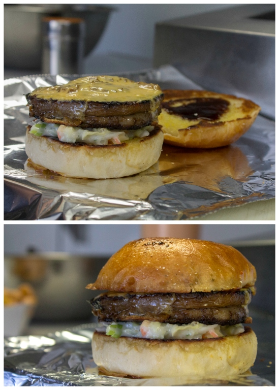 Rib Burger Collage