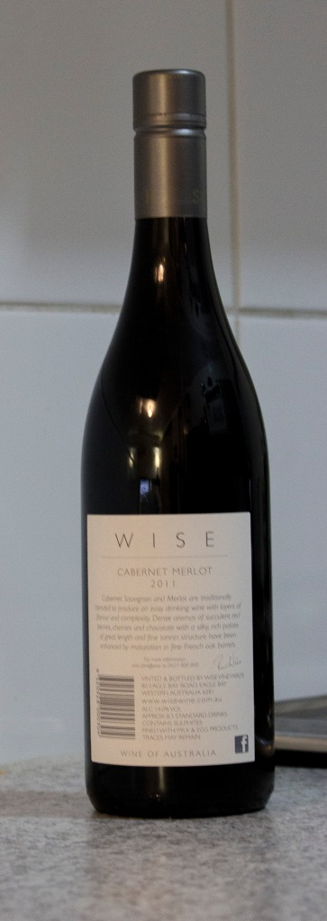 Wise Cabernet Merlot 2011  (Back)